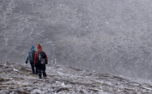 4 Wintry conditions in the Cairngorms #winterskills #winterclimbing #wintermountaineering
