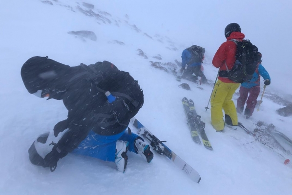 6 Great conditions thanks to Ciara & Dennis! #winterskills #wintermountaineering #skitouring