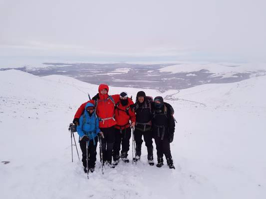 2 Winter makes a return #winterskills #ski touring #cairngorms