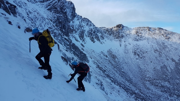 4 Lean conditions but still snow to go at, just. #winterskills #skitouring #winterclimbing