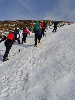 1 Wintry conditions in the Cairngorms #winterskills #winterclimbing #wintermountaineering