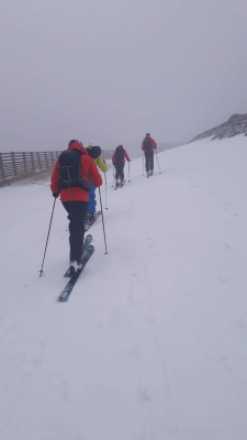 9 Lean conditions but still snow to go at, just. #winterskills #skitouring #winterclimbing