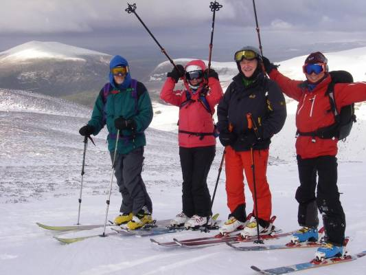 7 Busy and snowy half term #winterskills #ski touring # climbing # courses #introduction #cairngorms #scotland