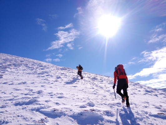8 Spring in the air, but winter is still clinging on! #winterskills #wintermountaineering #hillwalking
