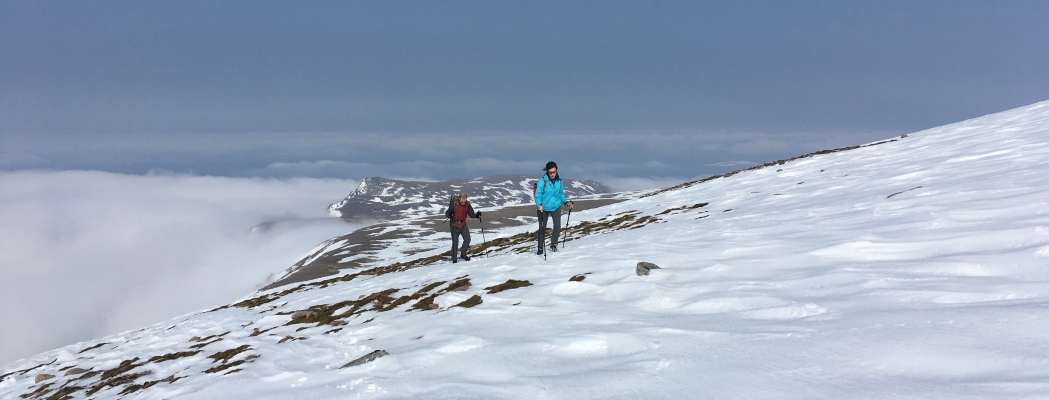 5 Spring in the air, but winter is still clinging on! #winterskills #wintermountaineering #hillwalking