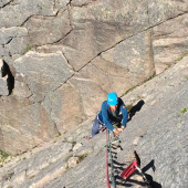 Rock climbing, film safety & broken arms in the Cairngorms